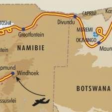 Itinéraire du voyage Splendeurs d'Afrique Australe - Namibie - Tirawa