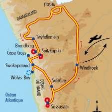 Itinéraire du voyage Safari et Dunes de Namibie - Namibie - Tirawa