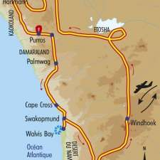 Itinéraire du voyage Exploration dans le Kaokoland - Namibie - Tirawa