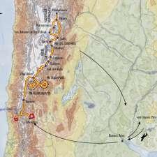 Itinéraire du voyage Grande Traversée du Nord-Ouest Argentin - Argentine - Tirawa