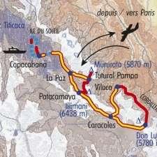Itinéraire du voyage Cordillères Secrètes - Bolivie - Tirawa