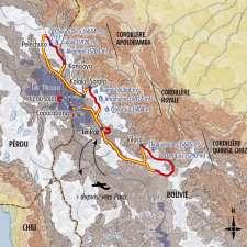 Itinéraire du voyage Le Trek des 3 Cordillères - Bolivie - Tirawa