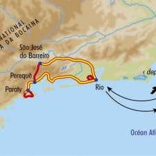 Itinéraire du voyage Rio, entre Mer et Montagne - Brésil - Tirawa