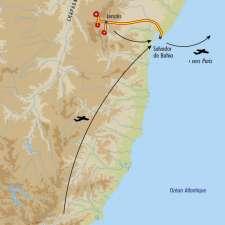 Itinéraire du voyage De Rio à Salvador de Bahia - Brésil - Tirawa
