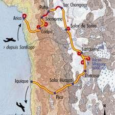 Itinéraire du voyage Randos secrètes dans le désert Atacama - Chili - Tirawa