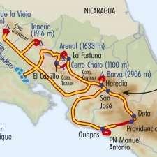Itinéraire du voyage Trek entre Jungle et Volcans - Costa Rica - Tirawa