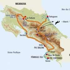Itinéraire du voyage Balade au Costa Rica - Costa Rica - Tirawa