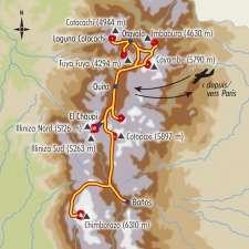 Itinéraire du voyage Cimes d'Equateur - Équateur - Tirawa