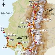 Itinéraire du voyage Balade des Andes au Pacifique - Équateur - Tirawa