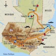 Itinéraire du voyage Couleurs Mayas - Guatemala - Tirawa
