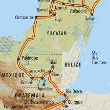 Itinéraire du voyage La Route Maya - Guatemala - Tirawa