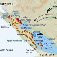 Itinéraire du voyage Volcans du Pacifique - Nicaragua - Tirawa