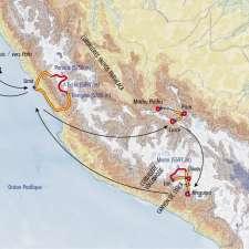Itinéraire du voyage Source de l'Amazone et Cordillères Yauyos Pariacaca - Pérou - Tirawa