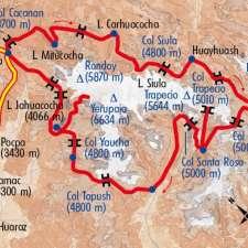 Itinéraire du voyage La Cordillère Huayhuash - Pérou - Tirawa