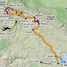 Itinéraire du voyage Salcantay et Ausangate - Pérou - Tirawa