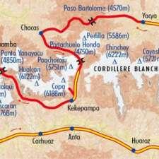 Itinéraire du voyage Grande Traversée de la Cordillère Blanche - Pérou - Tirawa