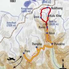 Itinéraire du voyage Festival de Laya et Trek du Masang Kang - Bhoutan - Tirawa