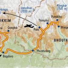 Itinéraire du voyage Traditions Himalayennes - Bhoutan - Tirawa