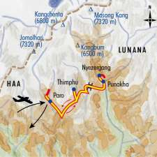 Itinéraire du voyage Festivals Bhoutanais - Bhoutan - Tirawa