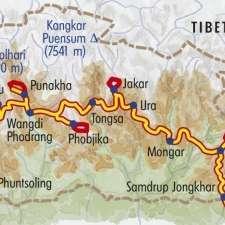 Itinéraire du voyage Grande traversée du Bhoutan - Bhoutan - Tirawa