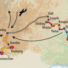 Itinéraire du voyage Grande traversée de la Chine du Sud - Chine - Tirawa