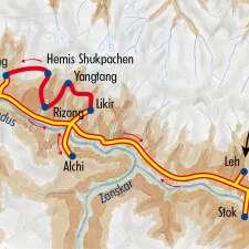 Itinéraire du voyage Trek dans la vallée de l'Indus - Inde - Tirawa