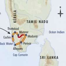 Itinéraire du voyage Randos et Backwaters du Kérala - Inde - Tirawa