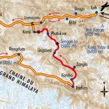 Itinéraire du voyage Grande Traversée du Zanskar - Inde - Tirawa