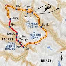 Itinéraire du voyage Les trois vallées du Ladakh - Inde - Tirawa
