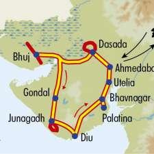 Itinéraire du voyage Grand tour du Gujarat - Inde - Tirawa