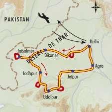 Itinéraire du voyage Grand tour du Rajasthan - Inde - Tirawa