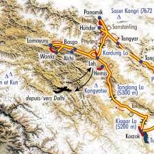 Itinéraire du voyage Découverte Ladakh et Nubra - Inde - Tirawa