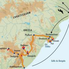 Itinéraire du voyage Tribus d'Orissa et Fête de Holi - Inde - Tirawa