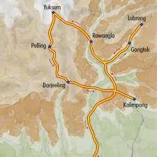 Itinéraire du voyage De Darjeeling au Sikkim, sur les pas d'Alexandra David-Néel - Inde - Tirawa