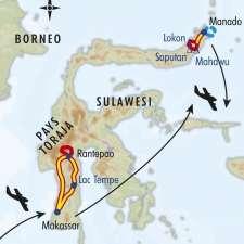 Itinéraire du voyage Torajas et Volcans de Sulawesi - Indonésie - Tirawa