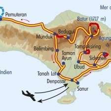 Itinéraire du voyage Charmes Balinais - Indonésie - Tirawa