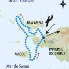 Itinéraire du voyage Raja Ampat, Archipel du Paradis - Indonésie - Tirawa