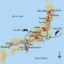 Itinéraire du voyage Balade au Coeur du Japon - Japon - Tirawa