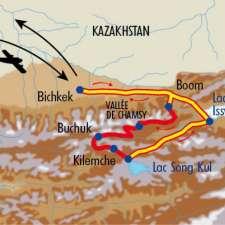 Itinéraire du voyage Rencontres nomades en Kirghizie - Kirghizie - Tirawa