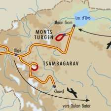 Itinéraire du voyage Trois Treks dans l'Ouest - Mongolie - Tirawa