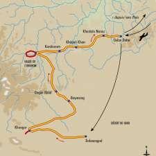 Itinéraire du voyage L'empire des steppes - Mongolie - Tirawa