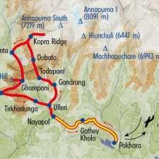 Itinéraire du voyage Zénitude aux Annapurnas avec L. Ameu - Népal - Tirawa