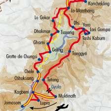 Itinéraire du voyage Au cœur du Mustang - Népal - Tirawa