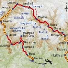 Itinéraire du voyage Grand Tour des Annapurnas - Népal - Tirawa