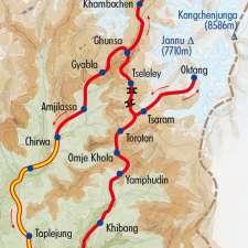 Itinéraire du voyage Le Trek du Kangchenjunga - Népal - Tirawa