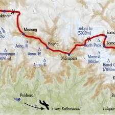 Itinéraire du voyage Du Manaslu aux Annapurnas - Népal - Tirawa
