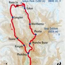 Itinéraire du voyage Gokyo et Balcons sur l'Everest - Népal - Tirawa