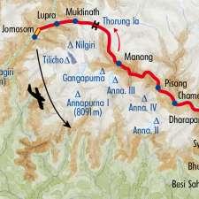 Itinéraire du voyage Le Tour des Annapurnas - Népal - Tirawa