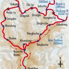 Itinéraire du voyage Les Hauts Cols de L'Everest - Népal - Tirawa