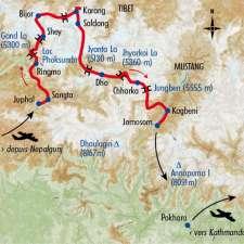 Itinéraire du voyage La Grande Traversée du Haut Dolpo - Népal - Tirawa